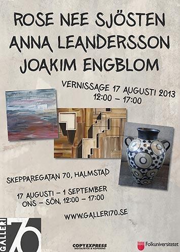 Rose Nee Sjösten, Anna Leandersson och Joakim Engblom